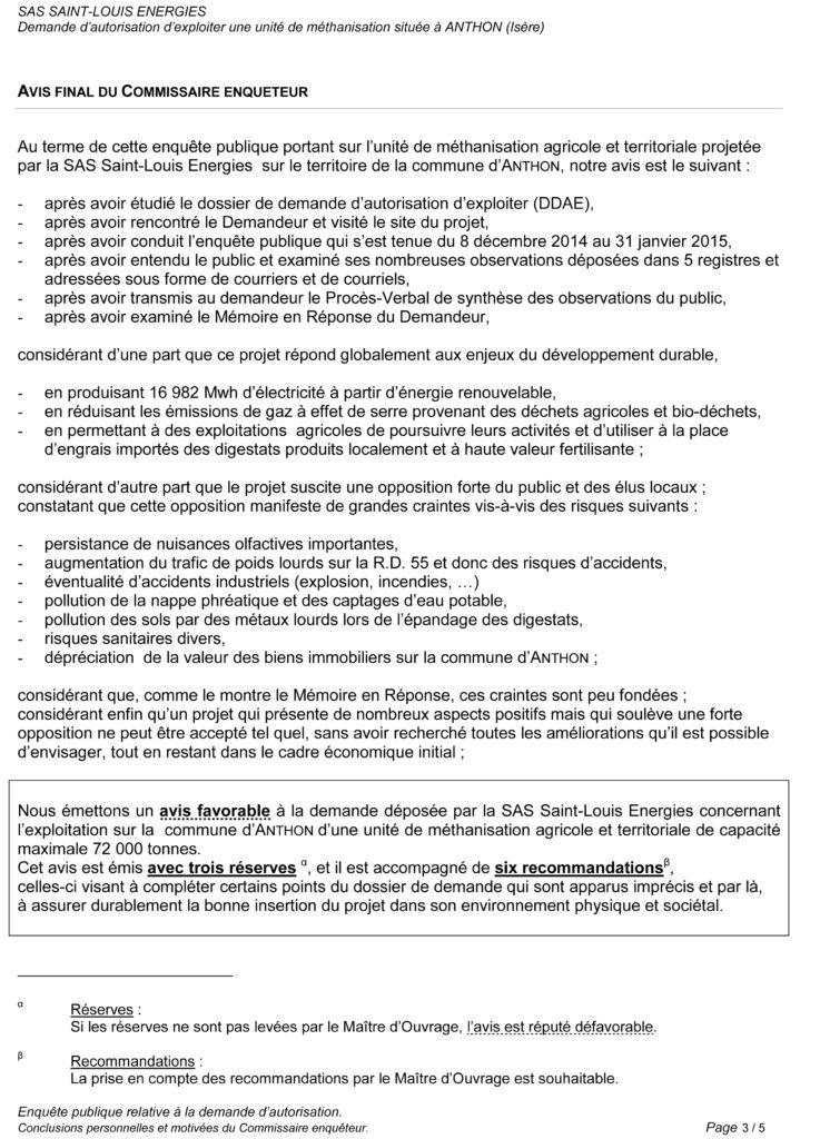 3-Conclusions motivées Saint-Louis Energies